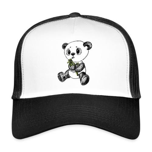 Panda Karhu värillinen scribblesirii - Trucker Cap