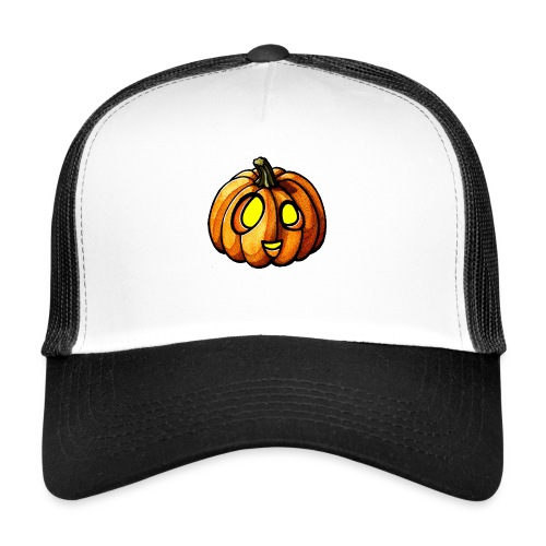 Pumpkin Halloween watercolor scribblesirii - Trucker Cap