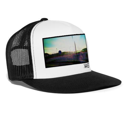 Picture Waves Black Border - Trucker Cap