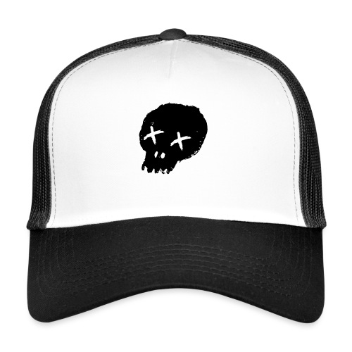 blackskulllogo png - Trucker Cap
