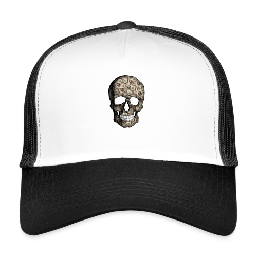Skull Money Black - Gorra de camionero