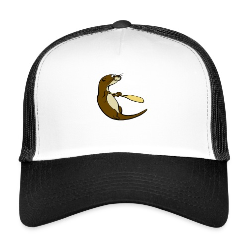Classic Song of the Paddle otter logo - Trucker Cap