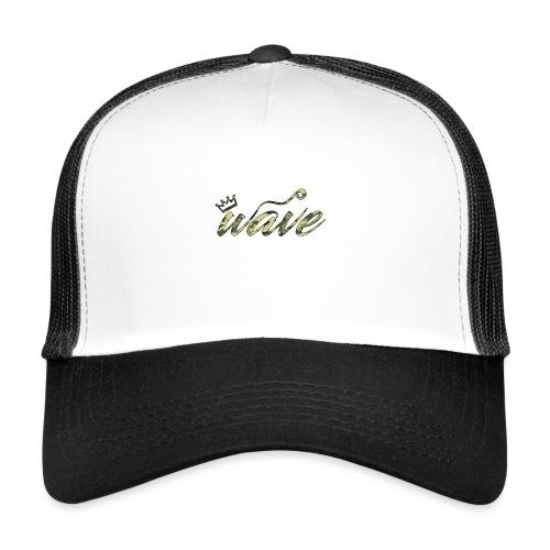 Camo Curvy Wave Clothing - Trucker Cap