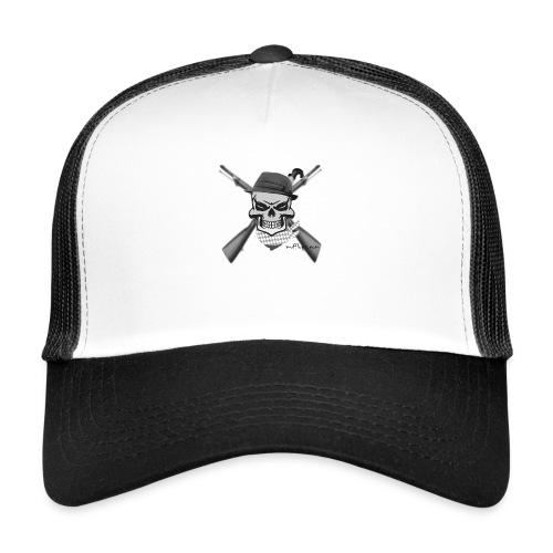 Totenkopf mit Hutund Gewehr2 - Trucker Cap