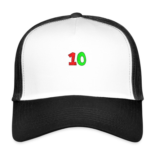 10 verde e rossa - Trucker Cap