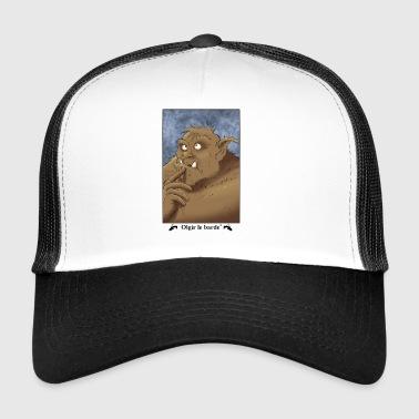 portrait troll - Trucker Cap