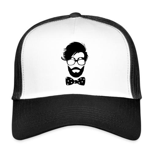 hipster_med_briller_og_butterfly - Trucker Cap