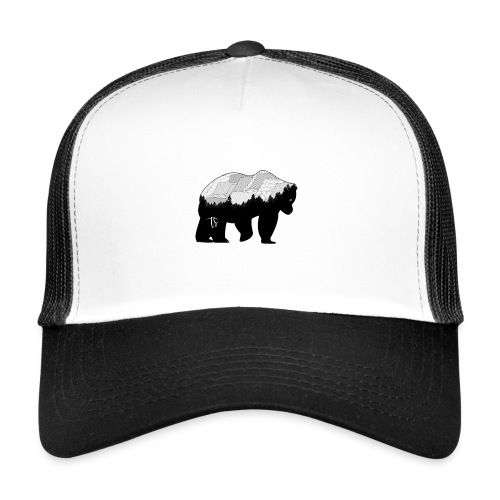 Geometric Mountain Bear - Trucker Cap