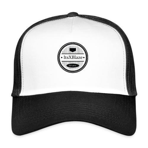 ItsXBlaze Logo 3 White V-Neck Option 1 - Trucker Cap
