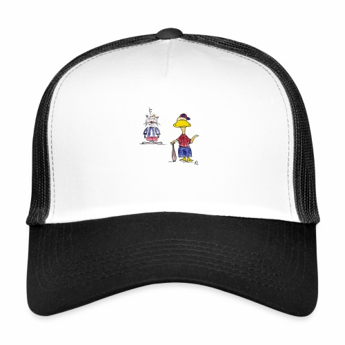 Cartoon Baseball - Trucker Cap