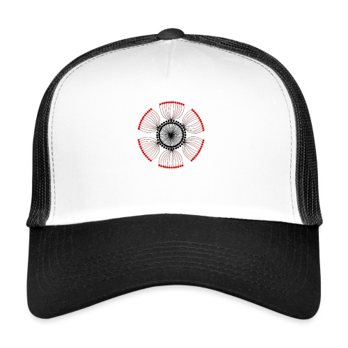 Red Poppy Seeds Mandala - Trucker Cap