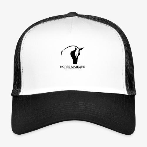 Horse Majeure Logo / Musta - Trucker Cap