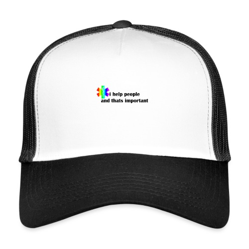 i help people - Trucker Cap