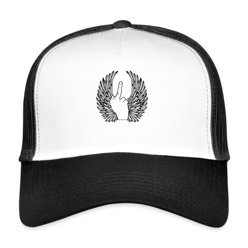 middle finger with wings - Trucker Cap