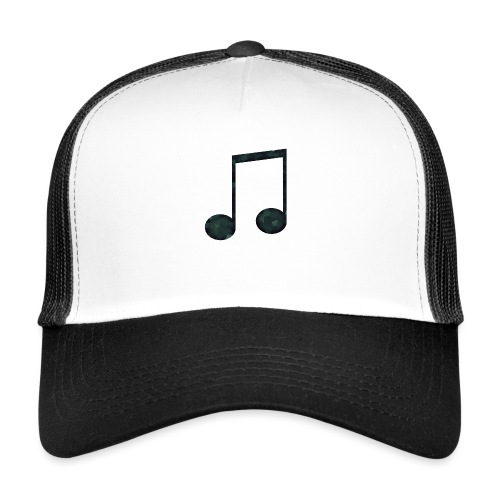 Low Poly Geometric Music Note - Trucker Cap