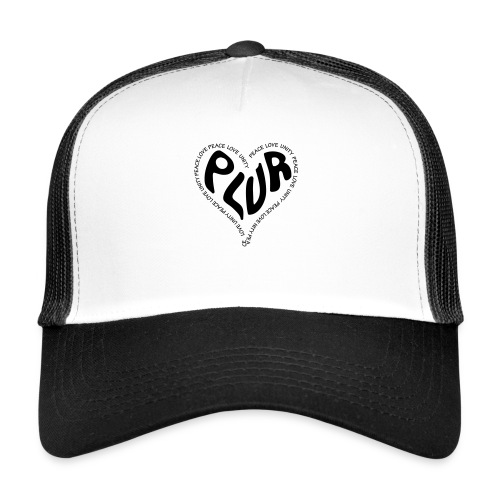 PLUR Peace Love Unity & Respect ravers mantra in a - Trucker Cap