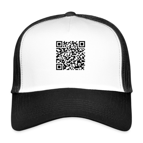 static qr code without logo2 png - Trucker Cap
