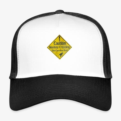 Caution Monkey Crossing - Trucker Cap
