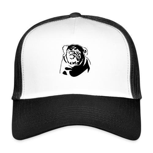 English Bulldog - negative - Trucker Cap