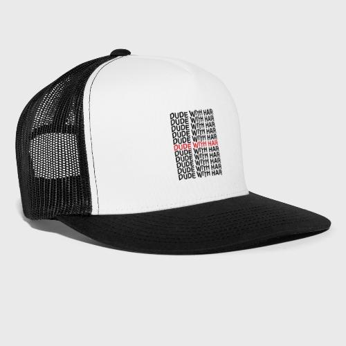 Dude With Hair Red Wave - Trucker Cap