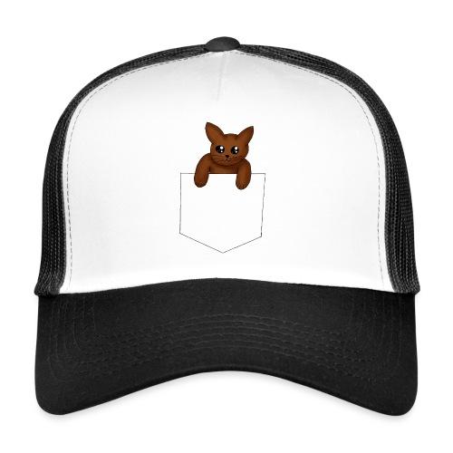 Kat in borstzak | Vrouwen T-Shirt - Trucker Cap
