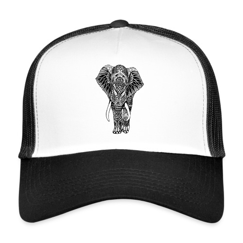 Good Luck Mandala Elephant Designer Animal Love - Trucker Cap