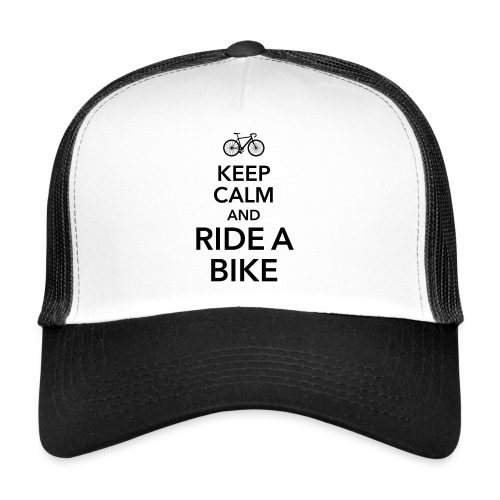 keep calm and ride a bike Fahrrad Sattel Drahtesel - Trucker Cap
