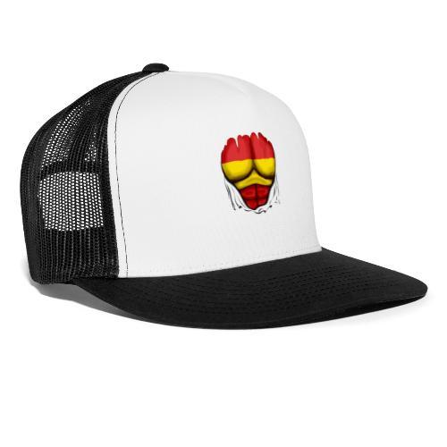 España Flag Ripped Muscles six pack chest t-shirt - Trucker Cap