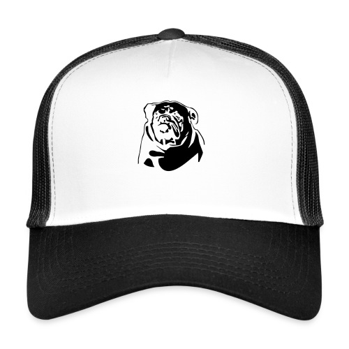 English Bulldog - negative - Trucker Cap