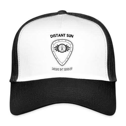 Distant Sun - Mens Slim Fit Black Logo - Trucker Cap