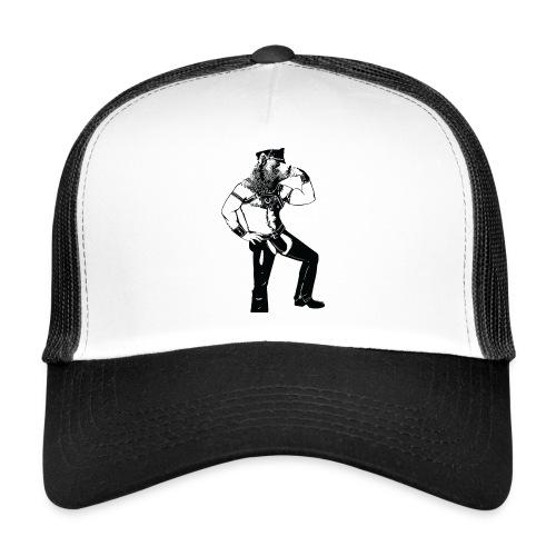 Grrr leather bear - Trucker Cap