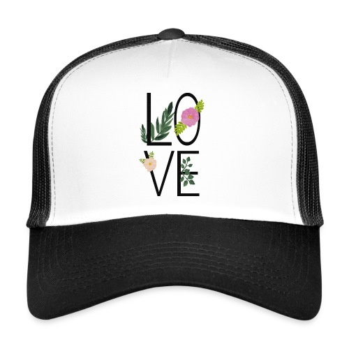 Love Sign with flowers - Trucker Cap
