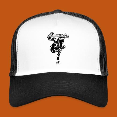 Skater / Skateboarder 03_schwarz weiß - Trucker Cap