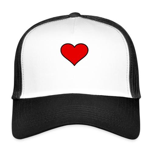 big heart clipart 3 - Trucker Cap