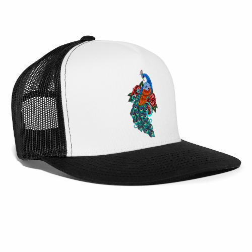 Farverig påfugl - Trucker Cap