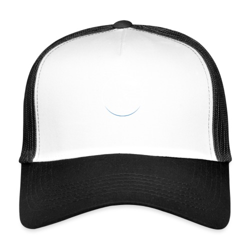 White and white-blue logo - Trucker Cap