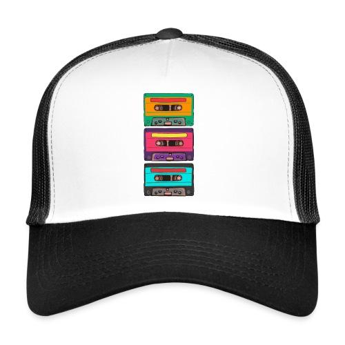 Colorful Cassettes row - Trucker Cap