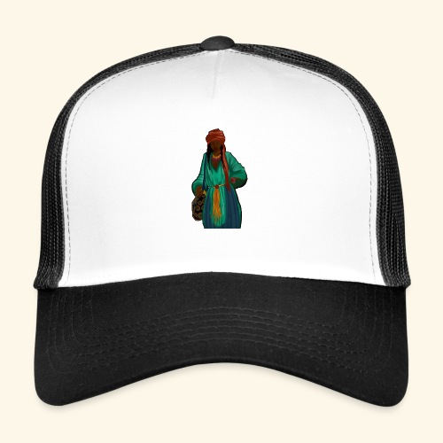 Femme avec sac motif - Trucker Cap