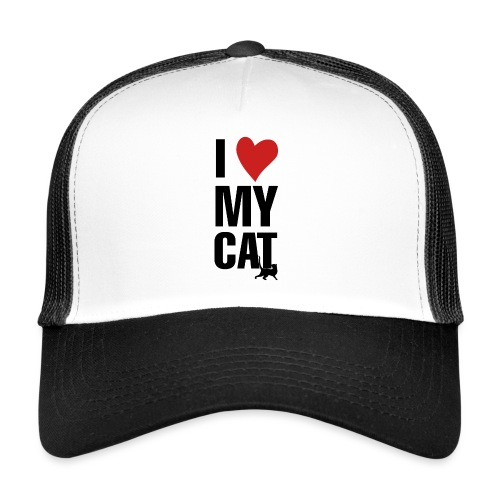 I_LOVE_MY_CAT-png - Gorra de camionero