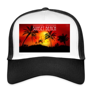 Sunset beach - Trucker Cap