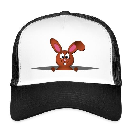 Cute bunny in the pocket - Trucker Cap