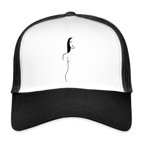 Filigran, minimalistisch, dezent. Lineart Kunst - Trucker Cap