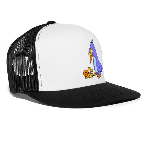 Schnecke und Vogel Nr 2 von dodocomics - Trucker Cap