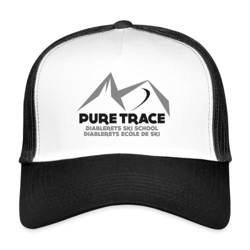 logo-PURE_TRACE-black - Trucker Cap