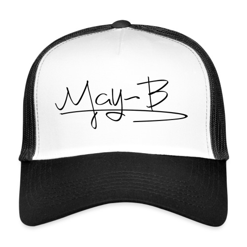May-B signature design 2 black - Trucker Cap