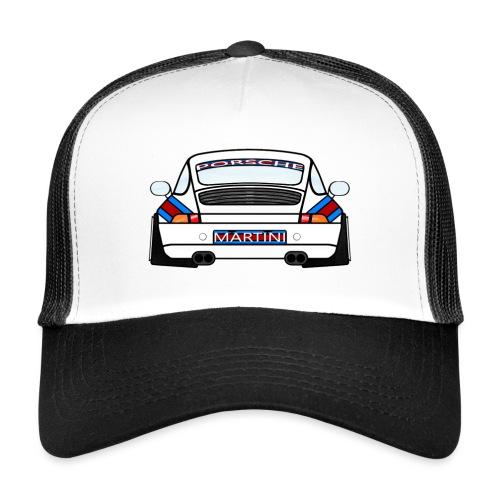 White Sports Car Maritini Livery - Trucker Cap