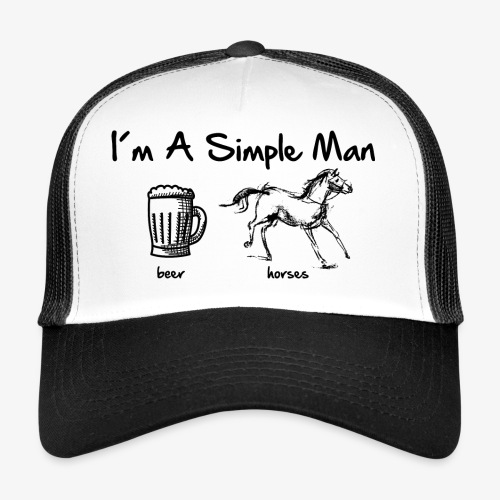 Vorschau: simple man pferd - Trucker Cap