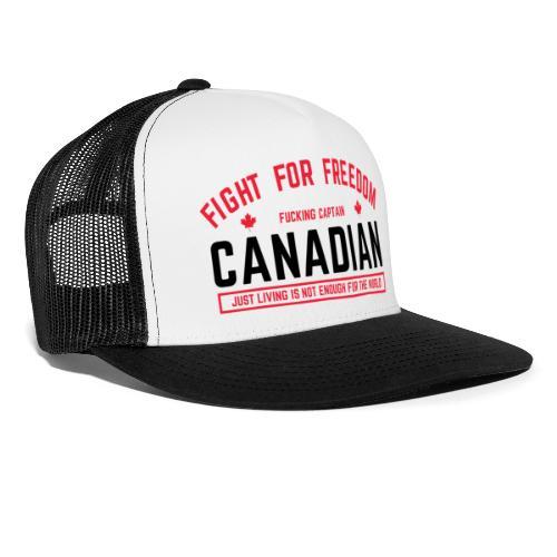 Canadian Black - Trucker Cap
