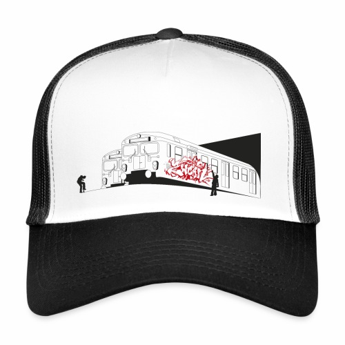 Throw up - 2wear graffiti trains ver02-1 - Trucker Cap
