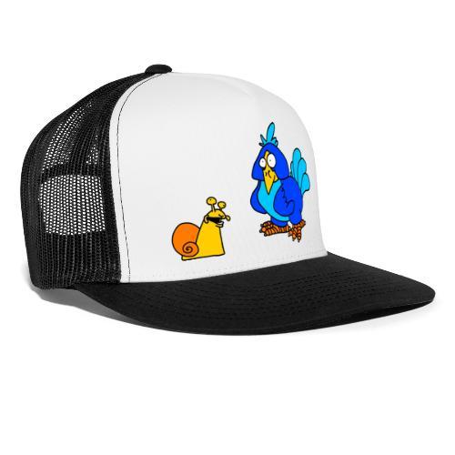 Schnecke und Vogel von dodocomics - Trucker Cap